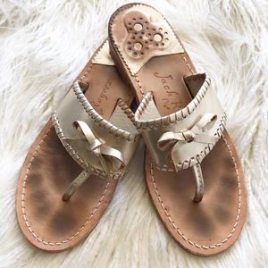 "JACK ROGERS ""Adeline"" bow sandals"